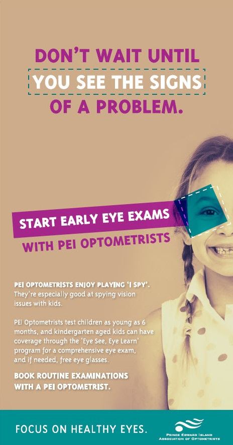 Start early eye exams